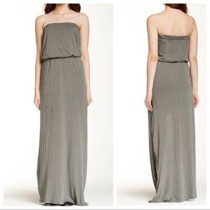Splendid Strapless Olive Maxi Dress